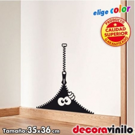 Monstruo cremallera - 35x36 cm