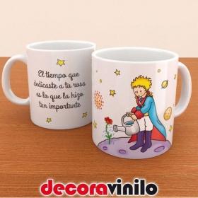 """Taza """"El principito- La Flor Hermosa"""" - 10x8cm"""