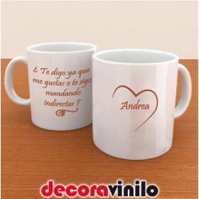 "Taza ""Amor con Indirecta"" - 10x8cm"