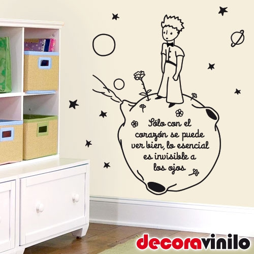Vinilo decorativo de pared wall sticker el principito for Vinilo el principito