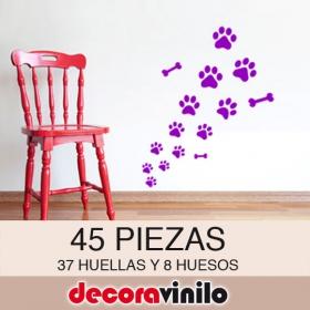 Kit huellas de perro y huesos - 45 PIEZAS