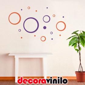 Círculos para decorar 18 Piezas- 100x60cm