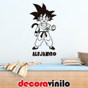 Goku niño con nombre - 30x60 cm N07
