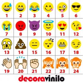 Emoticonos WhatsApp - 10X10 cm T05