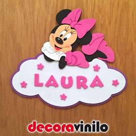 Placa de puerta Minnie Mouse - 22x19cm GE01