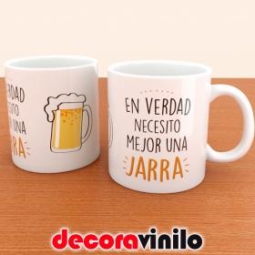 """Taza """"Necesito una Jarra"""" - 10x8cm"""