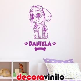 CHASE - Patrulla canina con nombre - 75x45 cm N14