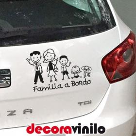Familia Personajes - bebé a bordo - GRANDE 25x16 cm