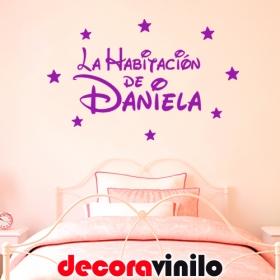La habitación de... NOMBRE - 80x50cm Disney N18