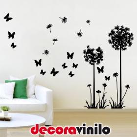 Dientes de León y mariposas 205x150cm FL01