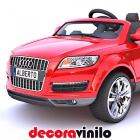 Mini Matrícula coche eléctrico niño - personalizable