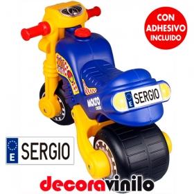 Mini Matrícula moto y correpasillo niño - personalizable
