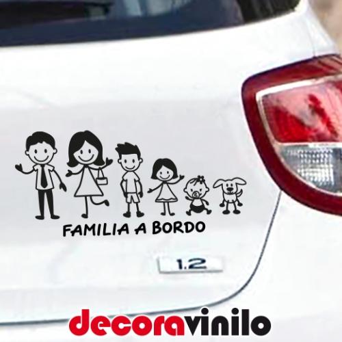 Familia a bordo Personalizable con Personajes T10