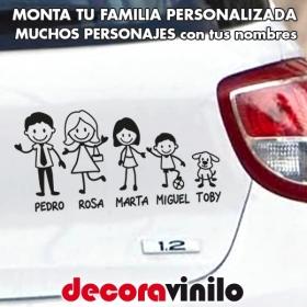 Familia a bordo Personalizable con Personajes y Nombres T11