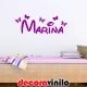 Nombre Disney Mariposas personalizado- 60x30cm o 80x40cm