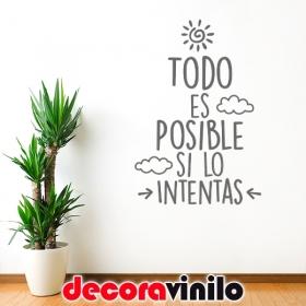 """Frase """"Todo es posible..."""" - 70x46cm o 58x40cm"""