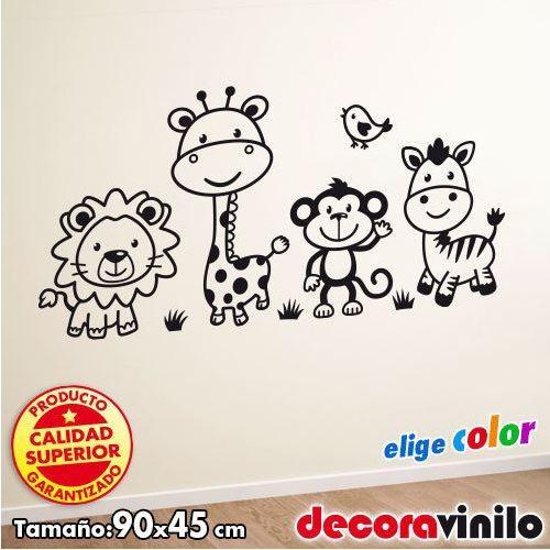 Animales de la Selva - 90x45 cm