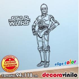 C3PO Star Wars - Guerra de las Galaxias - 94x118 cm